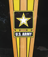 army surf board